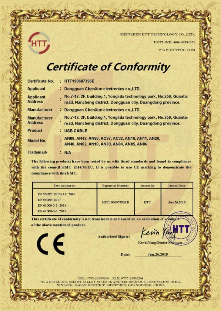 Сертификат соответствия CE