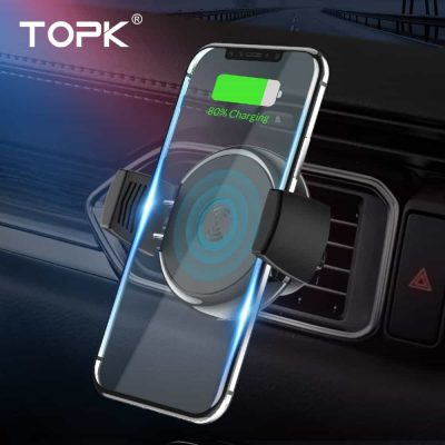 Автомобильный держатель телефона TOPK B47W с беспроводной зарядкой