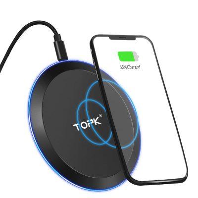 Беспроводное зарядное устройство TOPK B46W LED 10W Black