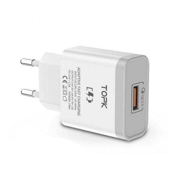 Сетевое зарядное устройство TOPK C301Q 18W