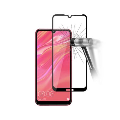 Защитное стекло для Huawei Y7 (2019) Full Glue с рамкой