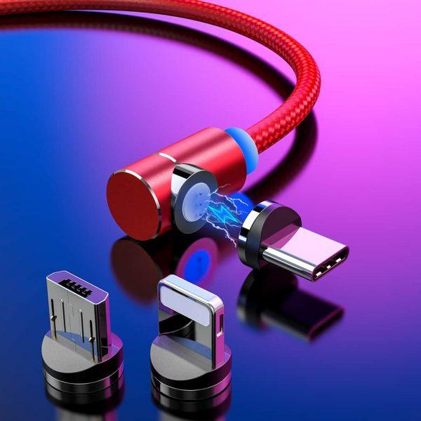 Магнитный кабель зарядка TOPK AM69 LED