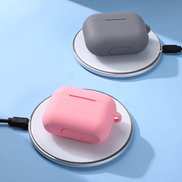 Силиконовый чехол TOPK C06 с карабином для Apple AirPods Pro