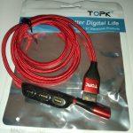 Магнитный USB кабель для зарядки телефона TOPK AM63 photo review