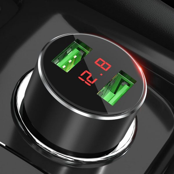 Автомобильное зарядное TOPK G209 15W 2xUSB