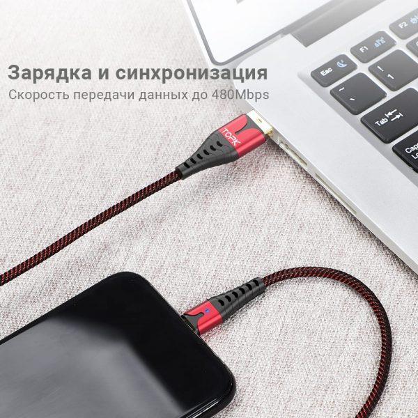 Кабель зарядки и синхронизации TOPK AN83