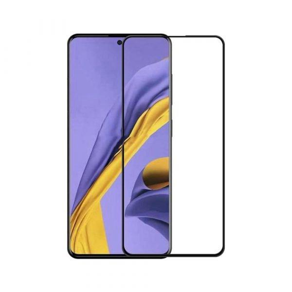 Защитное стекло для Samsung A71 (2020) Full Glue с рамкой