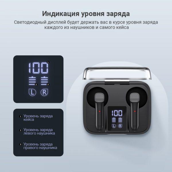 Беспроводные сенсорные TWS наушники TOPK T20