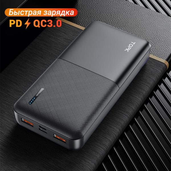 УМБ Power Bank TOPK I2009Q 20000 mAh QC/PD 18W