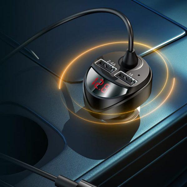 Автомобильное зарядное с кабелем 3 в 1 Usams US-CC119