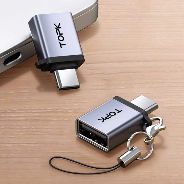 Адаптер OTG USB 3.0 Type-C TOPK AT06